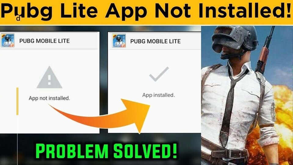 Pubg Mobile lite app not installed